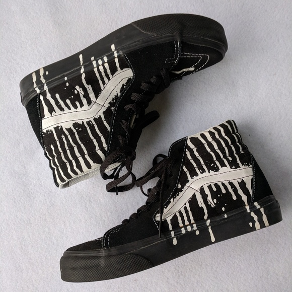 978ff0e361 Vans SK8-Hi Paint Drizzle High Top Skate Shoes. M 5aab3d86b7f72b36dc3a969f